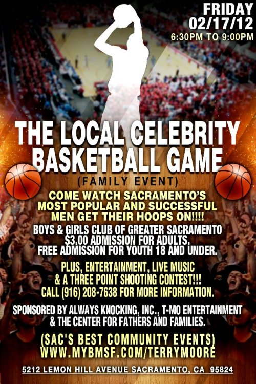 Superbowl celebrity basketball game